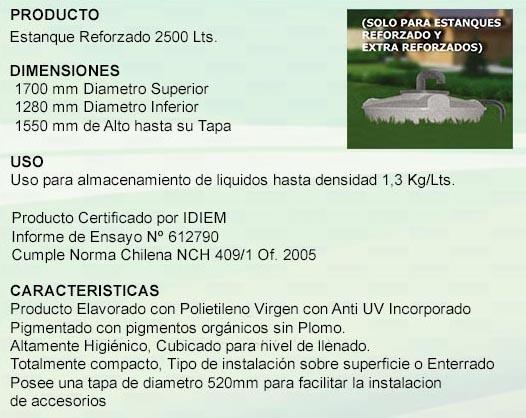 Estanque reforzado 2500 litros for Estanque 2500 litros